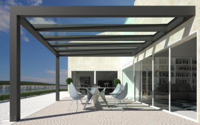ALLUVER: the new pergola with glass cover presented at Made Expo 2017