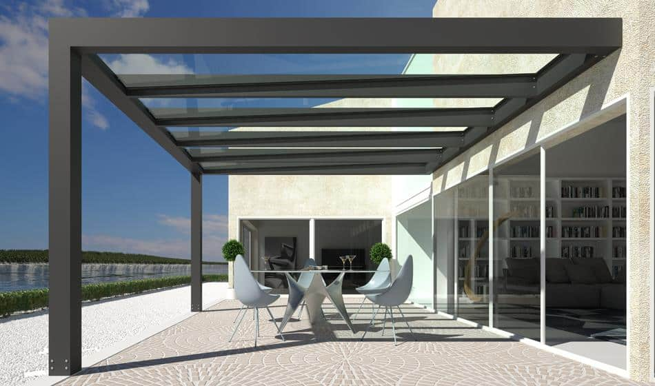 Alluver The New Pergola With Glass Cover Presented At